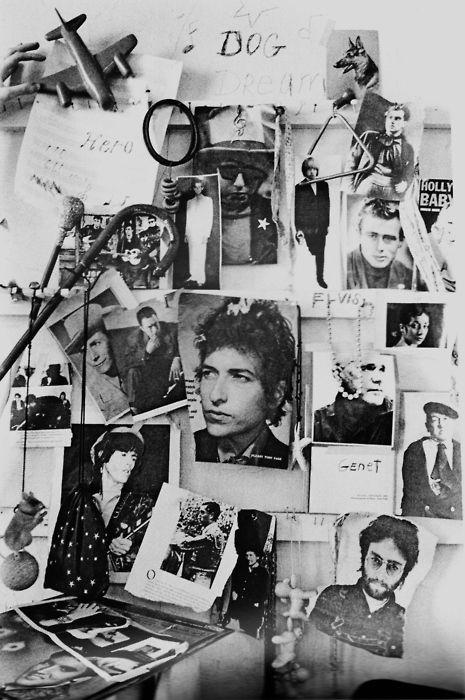 Patti Smith's wall by Judy Linn