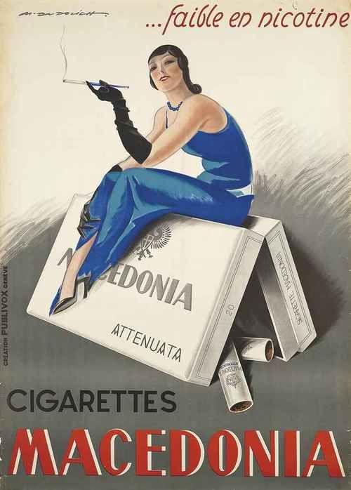 Vintage Cigarette Poster by Marcello Dudovich. (1878 - 1962)