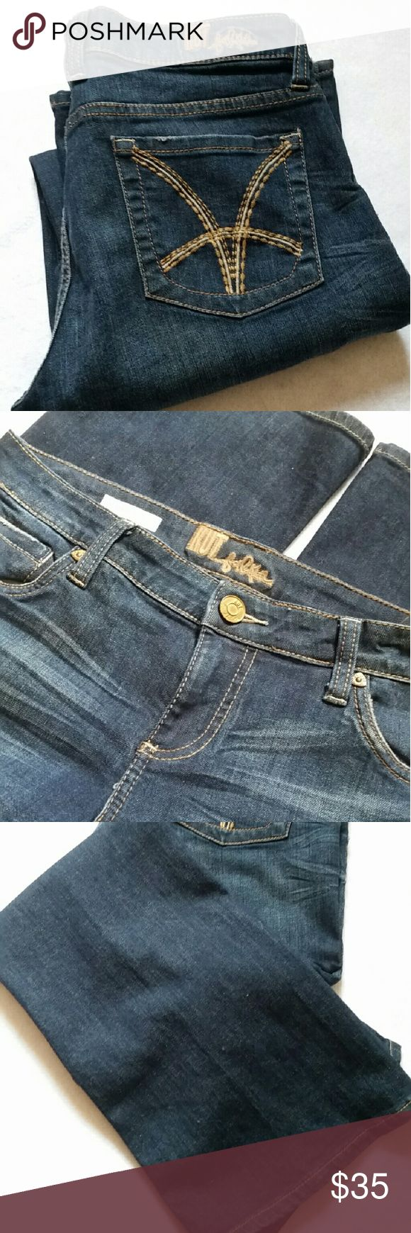 KUT Jeans Blue KUT jeans with back pocket detail. 99% cotton 1% spandex. 31 1/2 inseam. KUT Jeans