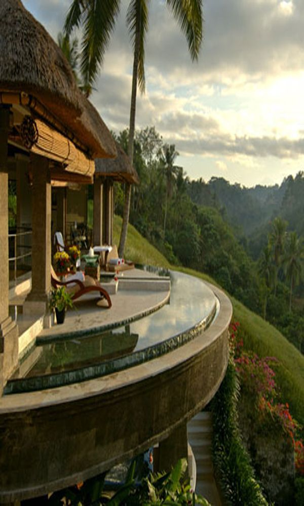 """Panaromic view, Viceroy Bali on the ridge of Petanu River, called Bali's """"Valley of the Kings"""""""