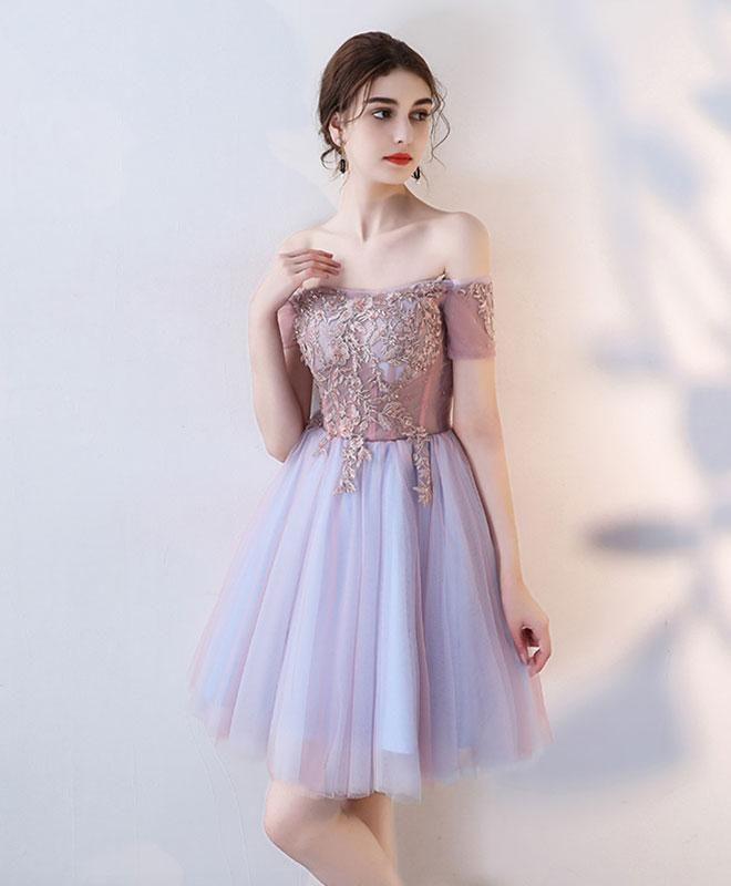 69456ba790f Cute lace off shoulder short prom dress, homecoming dress в 2019 г ...