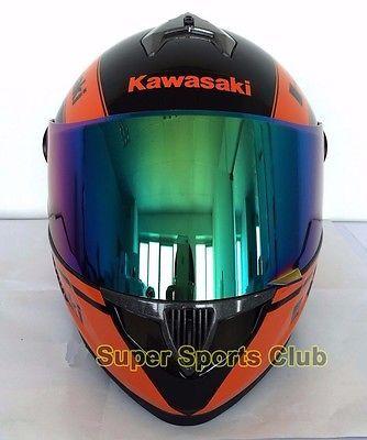 Full-Face-Kawasaki-Motorcycle-DOT-Standard-Breathable-Unisex-Helmet