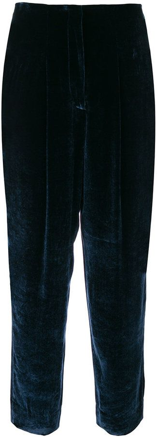 Incotex tied tapered trousers