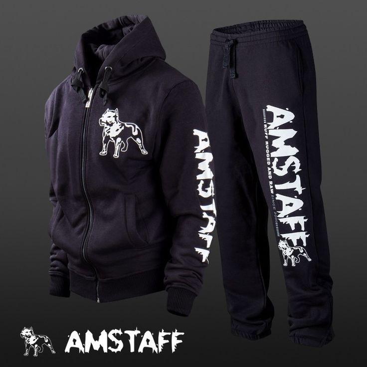 Tepláková souprava AMSTAFF Logo zip black/white