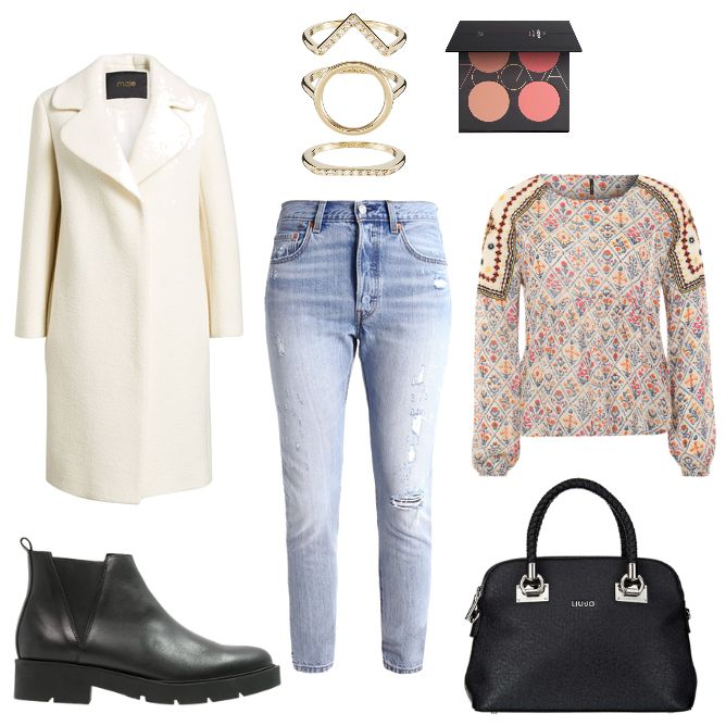 OneOutfitPerDay 2017-02-21 - #ootd #outfit #fashion #oneoutfitperday #fashionblogger #fashionbloggerde #frauenoutfit #herbstoutfit - Frauen Outfit Frühlings Outfit Outfit des Tages Ankle Boot Handtasche Hess Natur Jeans Kenzo Levi's Liu Jo maje Mantel Pepe Pepe Jeans Ring Skinny Zign ZOEVA