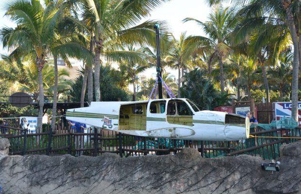 An Aeroplane Landed at uShaka Marine World