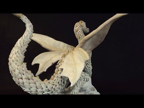 How to sculp a Dragon in Polymer Clay - Sculpture Tutorial - YouTube