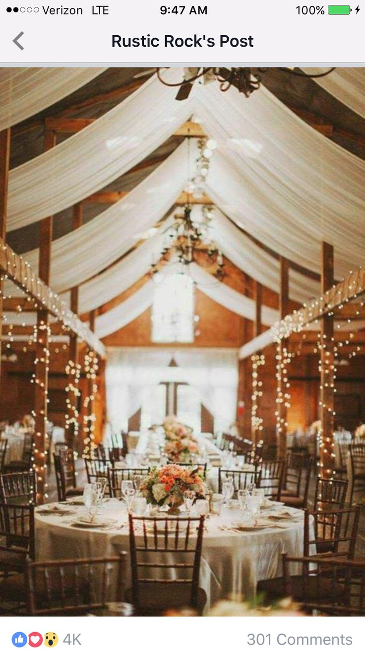 Wedding decorations tulle and lights   best Cedar lakes images on Pinterest  Wedding inspiration