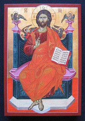 Icon of Jesus Christ Just Judge painted by Marchela Dimitrova