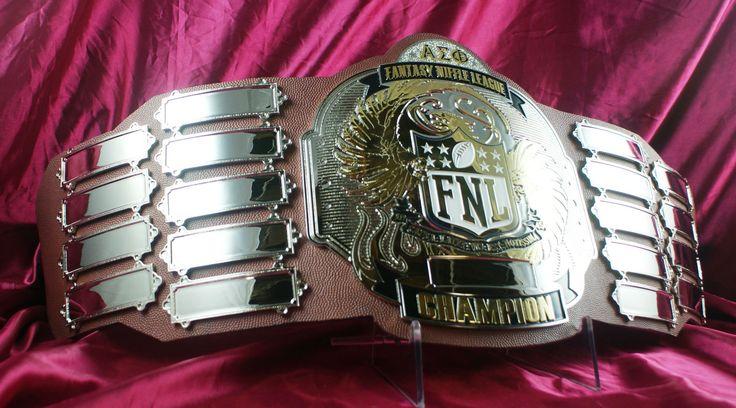 Sick championship belt.