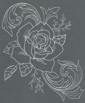 Chic Needlework - Rose Bloom | Urban Threads: Unique and Awesome Embroidery Designs