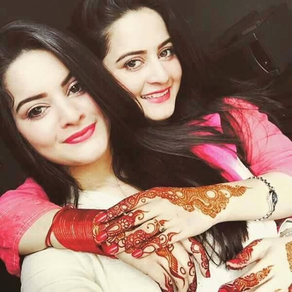 Minal And Aiman Khan eid 2015