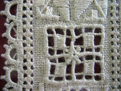 Close-up of Lefkara Lace from Cyprus