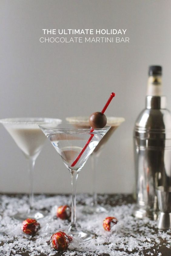 The Ultimate Holiday Chocolate Martini Bar from @cydconverse