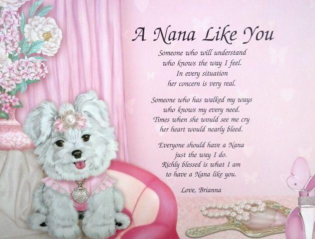 Best Nana Poems | poems friendship poems memorial poems grandparent poems aunt uncle ...