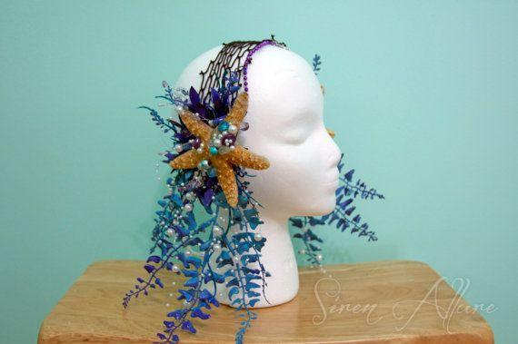 Starfish Head Piece by SirenAllure on Etsy, $75.00