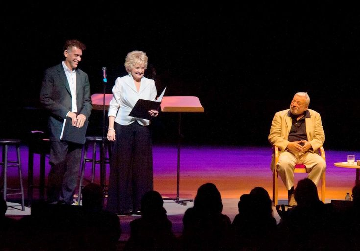 """Stephen #Sondheim, Brian Stokes Mitchell and Christine Ebersole at """"Steven Sondheim: In conversation"""" at the #Segerstrom Center for the Arts in Costa Mesa on July 13, 2102"""