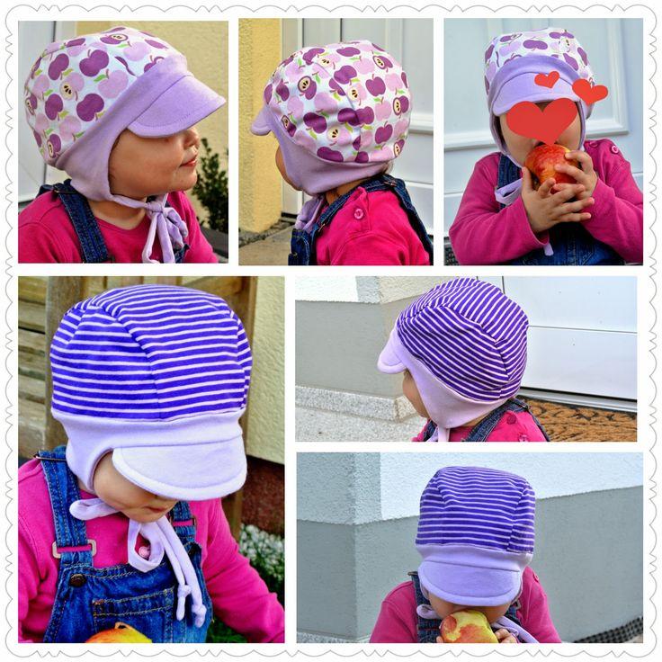 enganliegende Beanie Mütze mit Schirm zum binden - KU 37-52 - BabALouV: Freebooks