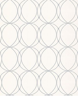 Silver circles overlaid on a faint pinstripe background for a contemporary sensibility