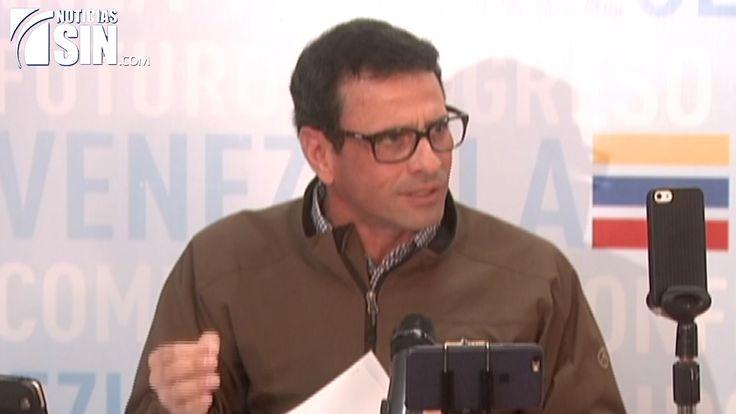 El lider y opositor venezolano Enrique Capriles se desliga de caso Odebrecht