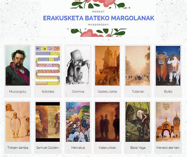 """MUSIKARMA: """"Erakusketa bateko margolanak"""". Modest Mussorgsky...."""