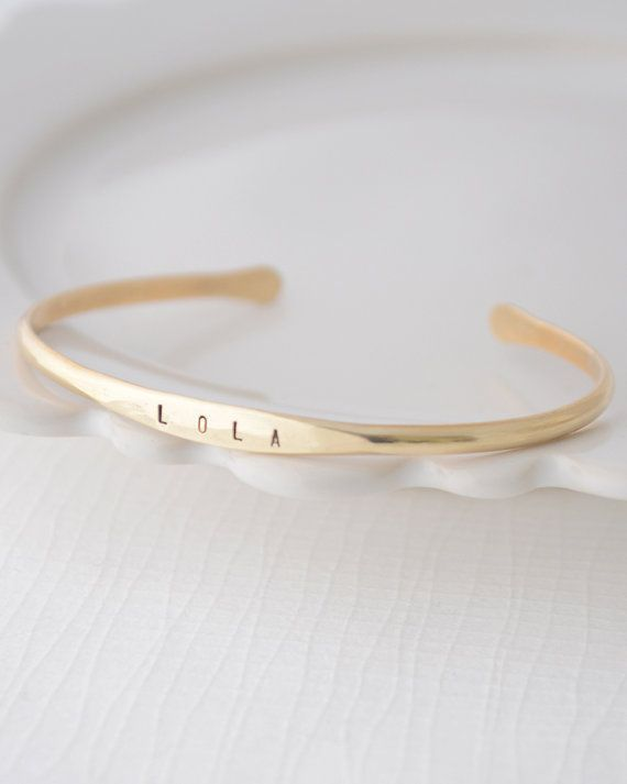Name Bracelet custom bangle bracelet with name
