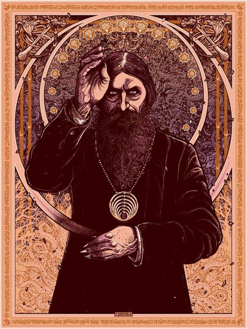 "Villains Mythos – ""Rasputin"" Art Print by Florian Bertmer  (Onsale Info)"