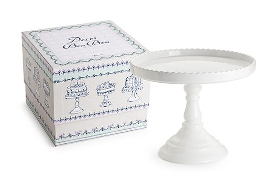 Rosanna Footed Round Cake Stand White — Perfect for candy buffets, dessert tables, weddings and events.