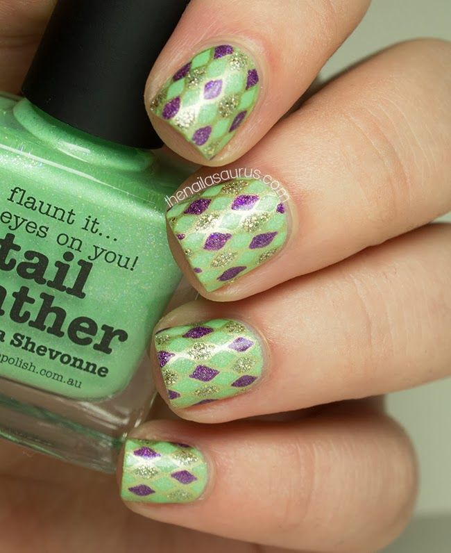 22 best Mardi Gras Nail ideas images on Pinterest | Nail design ...