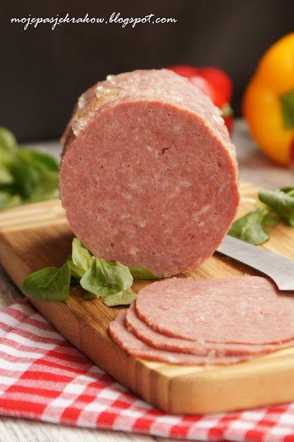 """moje pasje: Mielonka do chleba - """"Lunchenon meat"""" z szynkowara"""