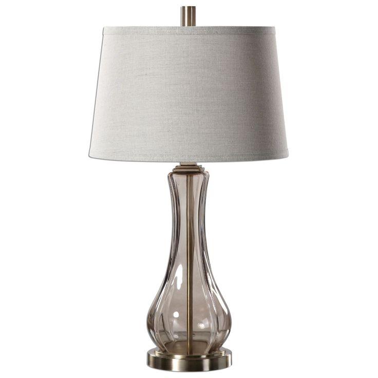 Cynthiana Smoke Gray Glass Table Lamp