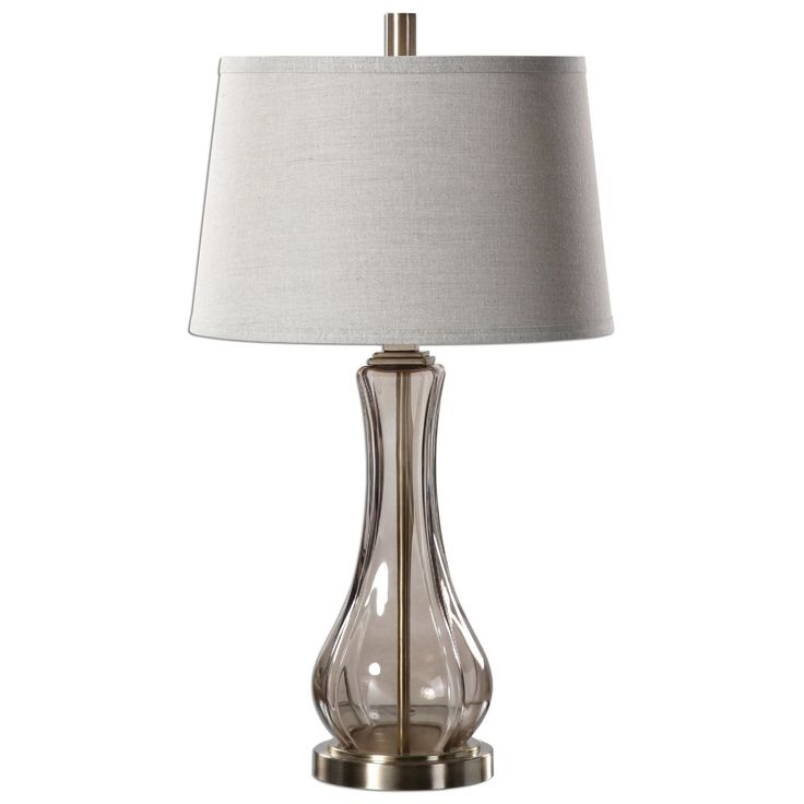 Cynthiana Smoke Gray Glass Table Lamp
