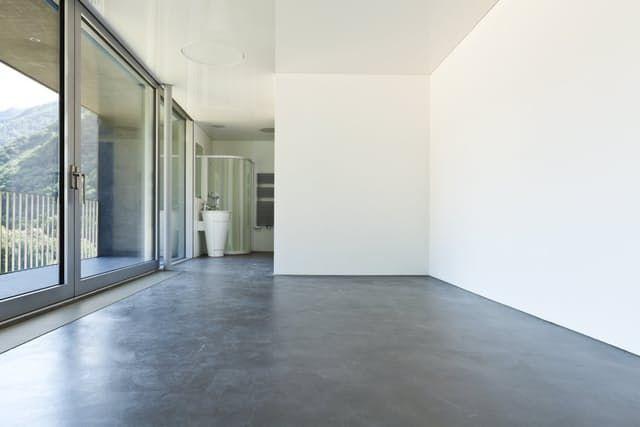 die besten 25 polished concrete floor cost ideen auf. Black Bedroom Furniture Sets. Home Design Ideas