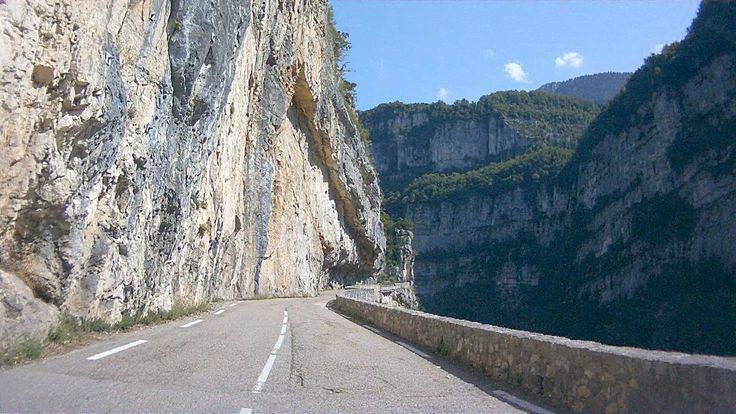 A ride through the Gorges de la Bourne, a canyon in the Vercors plateau.