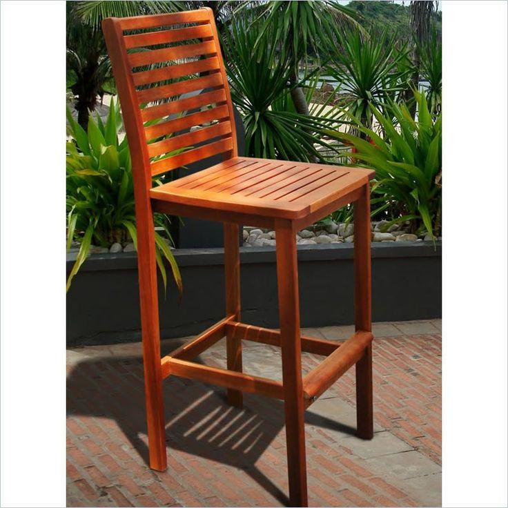 Outdoor Wood Bar Chair $99.04