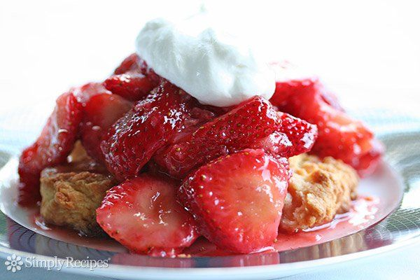 shortcake recipe, with fresh strawberries, sliced and macerated ...