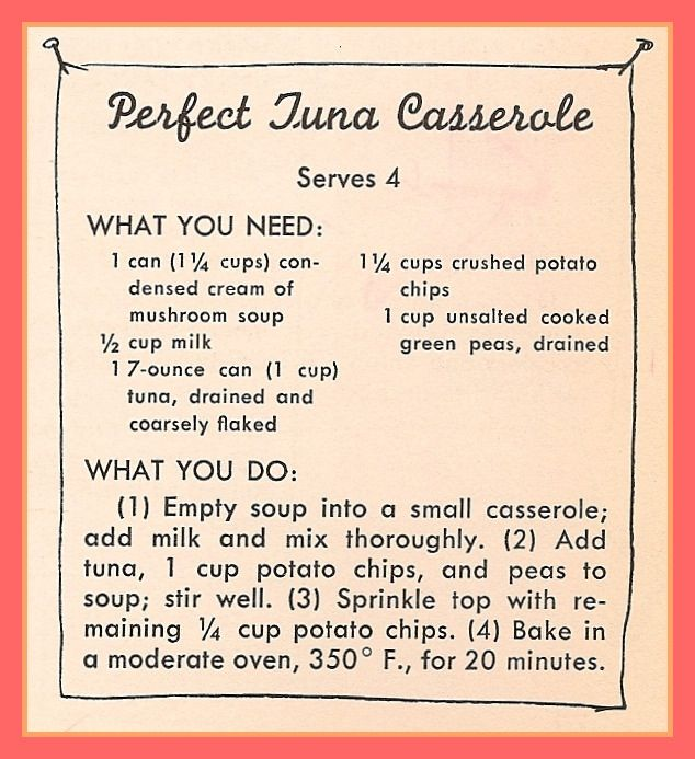 Vintage recipe.  I remember my sister making this.                                                                                                                                                      More
