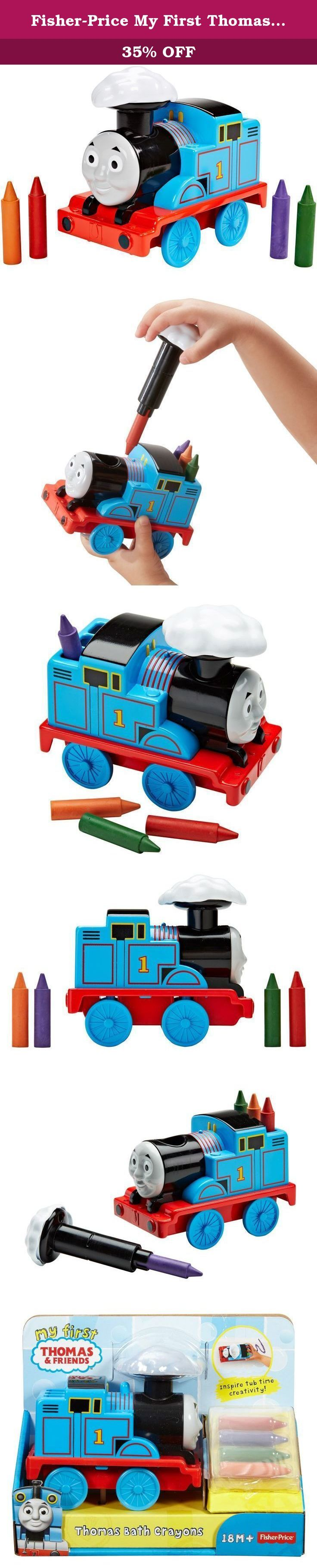 Fisher-Price My First Thomas the Train Thomas Bath Crayons. Encourage your little artist with Thomas Bath Crayons from Fisher-Price! Bath time becomes the perfect opportunity for creativity and self-expression as children use the crayons to draw on the tub. Place one of the crayons in Thomas' steam cloud, slide it into his funnel, then use the No. 1 blue engine to craft tub time masterpieces. A world of fun, beneficial play unfolds at their fingertips as children use fine motor skills...
