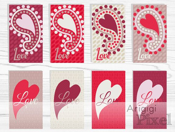 #Valentine #Gift #Tags Love gift tag Printable red by ArigigiPixel