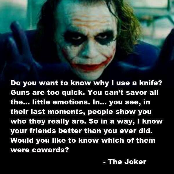 Joker... A strangely accurate personality test.... I dont want to try it