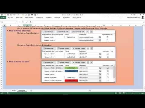 Excel - Gérer vos projets avec un diagramme Gantt