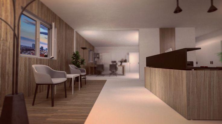 Interior design Office  Workplace minimal modern style
