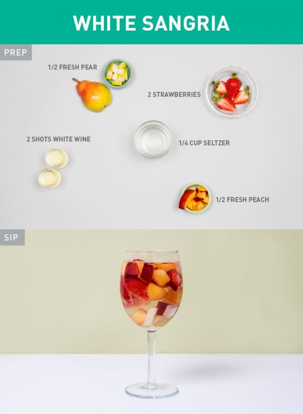 Healthier White Sangria  and 60 other healthier swaps for cocktails.