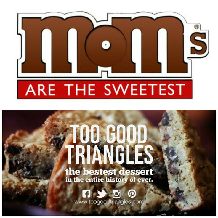 TGT #MOTHERSDAY CONTEST * Contest closes #Friday at 4pm and runs on FB, IG, PIN & TW. ONE #free batch of #Classic TGT, #GlutenFree TGT OR #Vegan/#GF TGT is up for grabs. How to enter: Repin this photo with #iloveTGT and a #sweet #mom comment. Winner will be announced Friday by 5pm. Good luck, #sweetlings! #toogoodtriangles