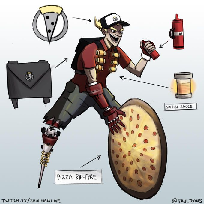 Junkrat the Pizza deliver skin