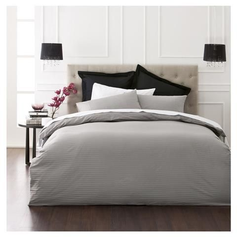 Charcoal Quilt Cover Set - Queen Bed | Kmart