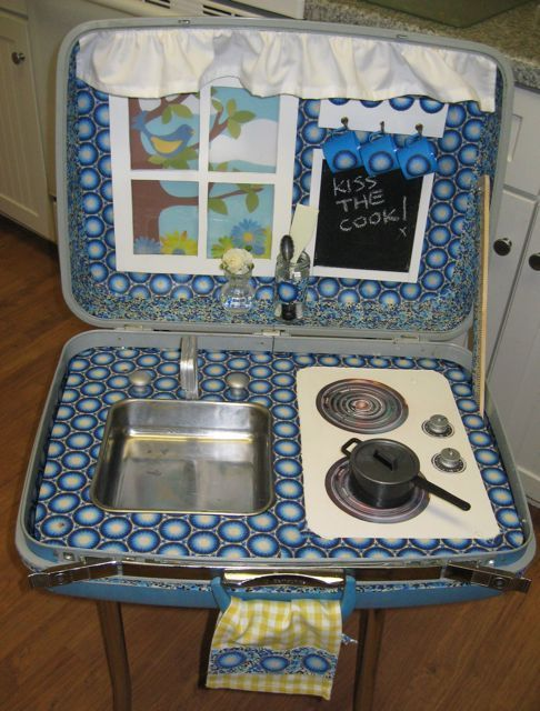 Mommo Design In A Suitcase Play Kitchen Kids