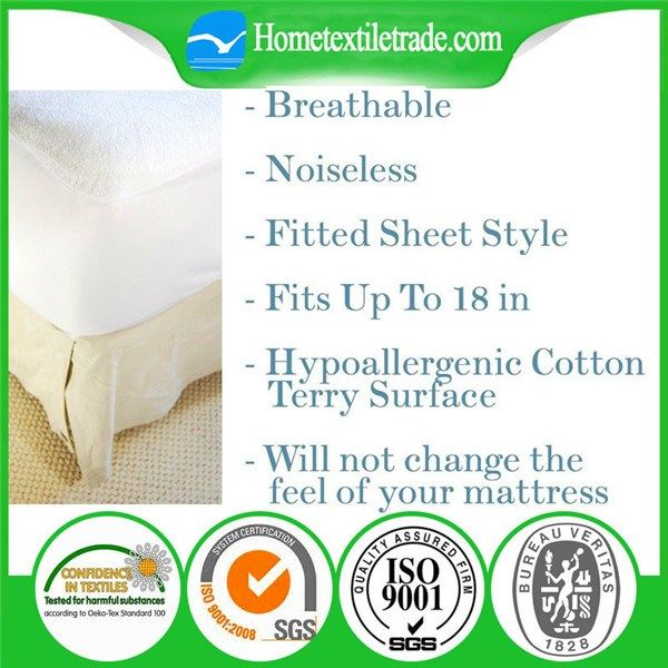 Single Size Hopital Used Waterproof Bed Bug Mattress Cover / Mattress Protector in Wichita     https://www.hometextiletrade.com/us/single-size-hopital-used-waterproof-bed-bug-mattress-cover-mattress-protector-in-wichita.html