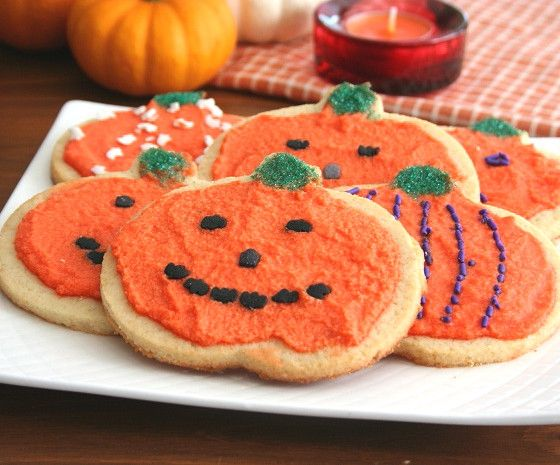 Healthy almond flour cut-out cookies, perfect for Halloween or any holiday! Gluten-free and sugar-free.