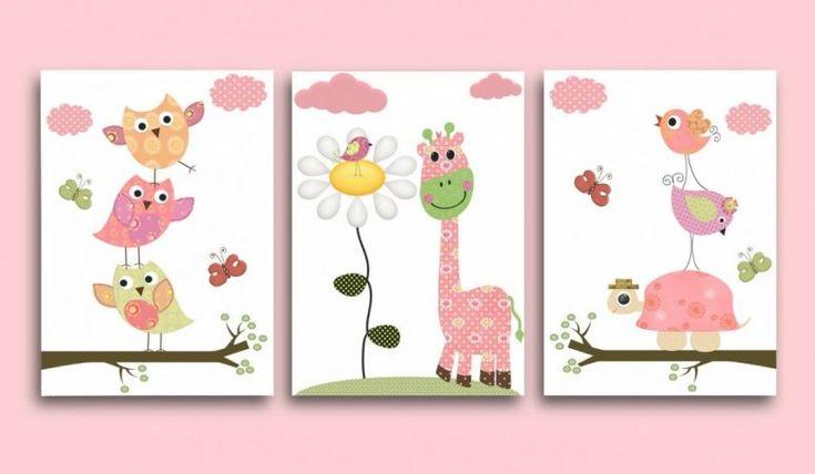 Kids Bedroom:Kids Owl Bedroom Decor Kids Art Baby Girl Room Decor Owl Kids Room Baby Girl Nursery In Kids Owl Bedroom Decor